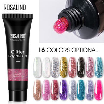 ROSALIND Glitter Poly Nail Gel Extension 15ml żel polski wszystko do Manicure Poly żel odbudowujący Semi Permanent Soak Off Nail Art tanie i dobre opinie CN (pochodzenie) Jedna jednostka Żel do paznokci Żel uv RE09-21-26 RESIN 1 PC 6 Shiny poly nail Gel 6 Glitter Poly nail gel and etc