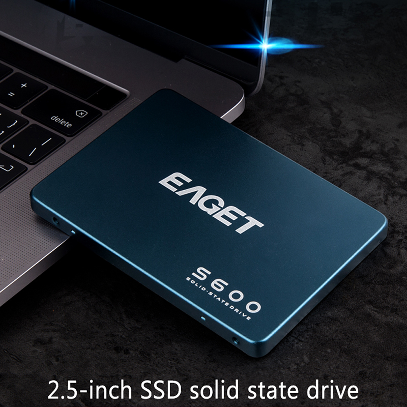 EAGET S600 SSD 128GB 256GB 512GB 2.5 Inch SATAIII HDD Hard Disk HD SSD Notebook PC 1TB 2TB Internal Solid State Drive