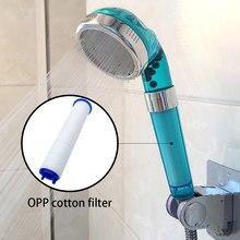 Recableght Regen Dusche Kopf Handheld Druck Bad Dusche Filter PP Baumwolle Wasser Saving Düse Einstellbar Bad Zubehör