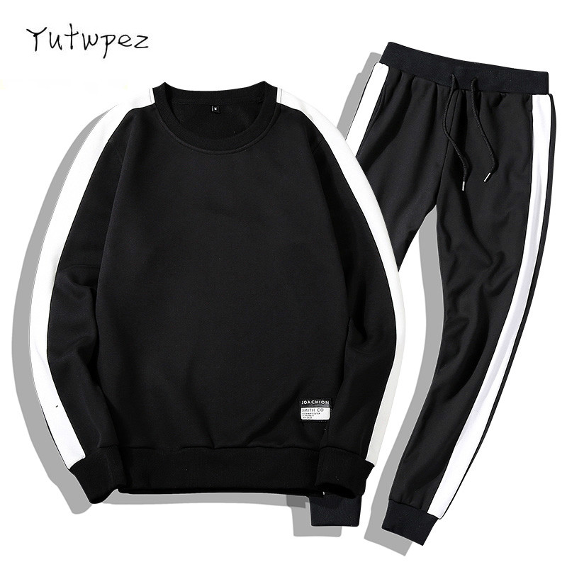 Tracksuits Men 2PC Outwear Sportsuit Sets Sweatshirts Men Set Clothing+Pants Hoodies Moleton Masculino Coats 2019 Men Outfit