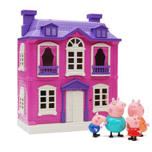 Peppa Pig George Peggy Family Four Sets Toy House Action Figure Child Anime Lighting Toys DIY Castle Children's Birthday Gifts(China)