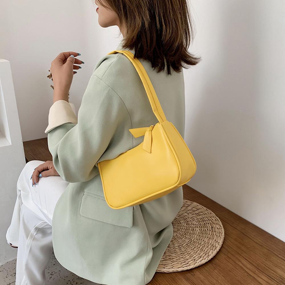 Retro Shoulder Bag Vintage Handbag Hobos Bag for Women PU Leather Female Baguette Bag Subaxillary Mini Bolsa Bolsa Feminina2020 3