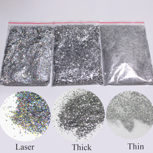 Laser powder Glitter 50g per bottle, Silver home DIY personality\free shipping