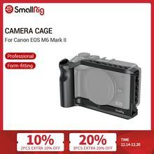 هيكل قفصي الشكل للكاميرا من سمولدغ M6 لكاميرا كانون EOS M6 مارك II Dslr ، هيكل قفصي الشكل مناسب للقفص مع قبضة يدوية متكاملة/كولد لتركيب الأحذية ، جهاز فلوغ 2515
