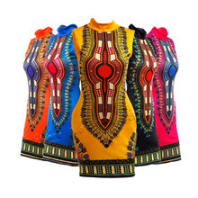 Robe Africaine pour femmes, sans manches, élastique, imprimé Bazin, vêtements de fête, riche