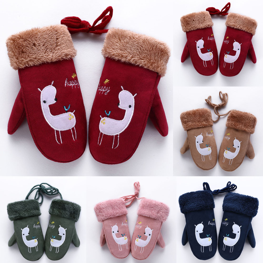 Gloves Snake Printing Girls Boys Twist Full Finger Wrist Warm Mittens Gloves Children Knitted Stretch Mittens Детские перчатки