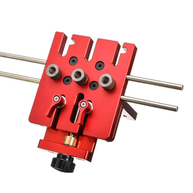 3 en 1 foret à bois perforateur Guide localisateur positionneur gabarit trousse à outils alliage d'aluminium bois travail outils de bricolage