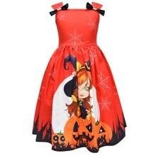 Halloween Ball Costume Girls Princess Dress Little Witch Vampire Clothes Performance Pumpkin
