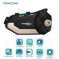 FreedConn R1 Del Motociclo del Citofono Del Casco Auricolare Bluetooth Citofono Video HD 1080P Wifi della Macchina Fotografica del Registratore Intercomunicador