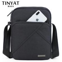 Сумка мужская Мужская легкая сумка TINYTA, повседневная непромокаемая сумка-кроссбоди из парусины, сумка на плечо для планшета iPad диагональю 9,7 дюйма с 8 отделениями