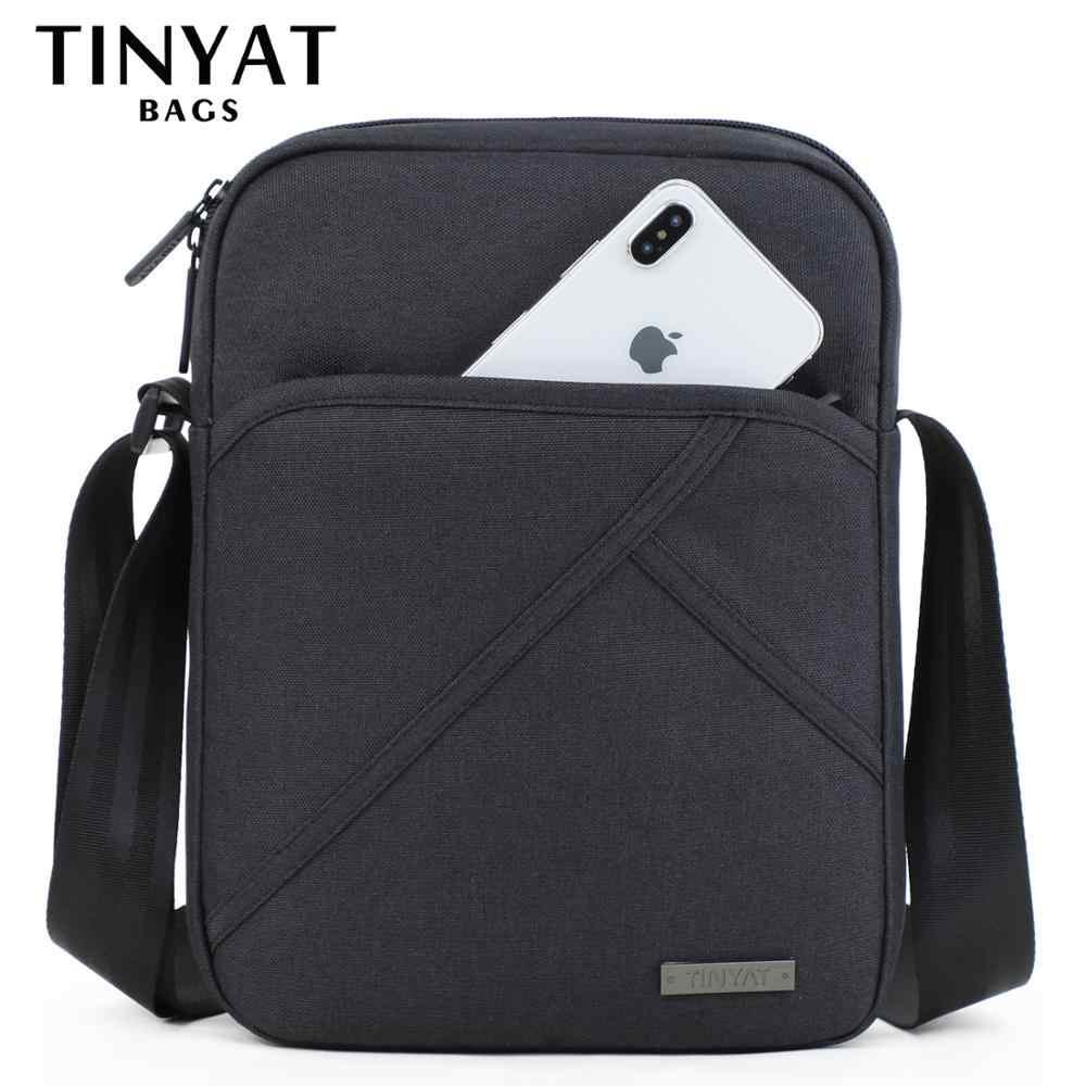 TINYTA Men's bag light Men Shoulder Bag for 9.7'pad 8 pocket Waterproof  Casual crossbody bag Black Canvas Messenger bag shoulder    - AliExpress