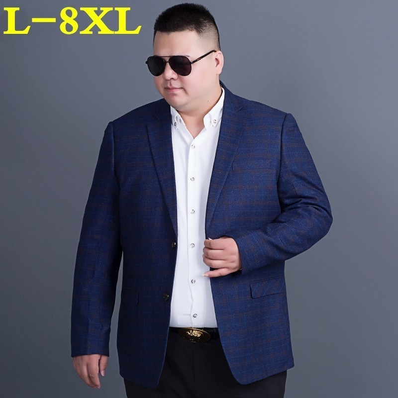 Plus Size 8XL 7XL 6XL 5XL 4X High Quality  Clothing Spring And Autumn Suit Blazer Men Fashion Male Suits Casual Masculine Blazer