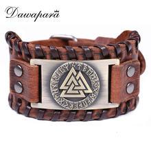 Металлический браслет амулет с символом Одина