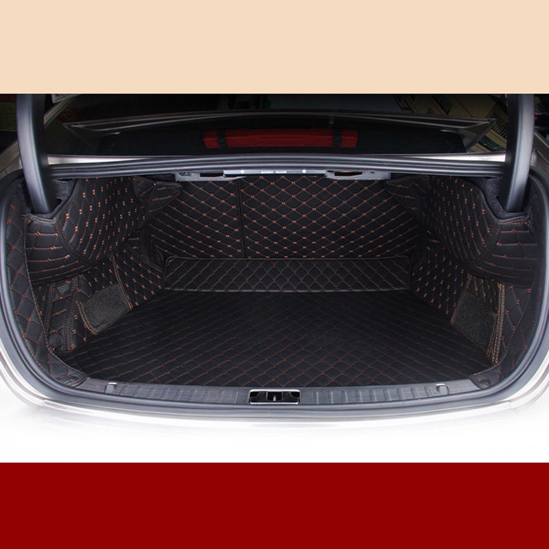 lsrtw2017 for volvo S60  leather car trunk mat 2010 2011 2012 2013 2014 2015 2016 2017 2018 cargo liner accessories rug carpet   - title=