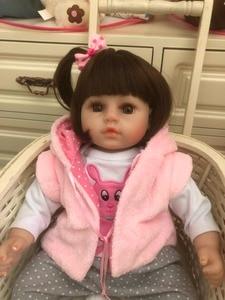 Image 5 - NPK 48cm soft real touch silicone boneca bebes reborn silicone reborn  toddler baby dolls kids birthday Christmas gift popular