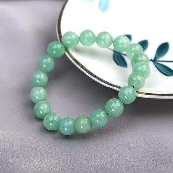 JD Bracelet en Jade vert naturel du Myanmar perles du temp rament bijoux gemmes accessoires cadeaux