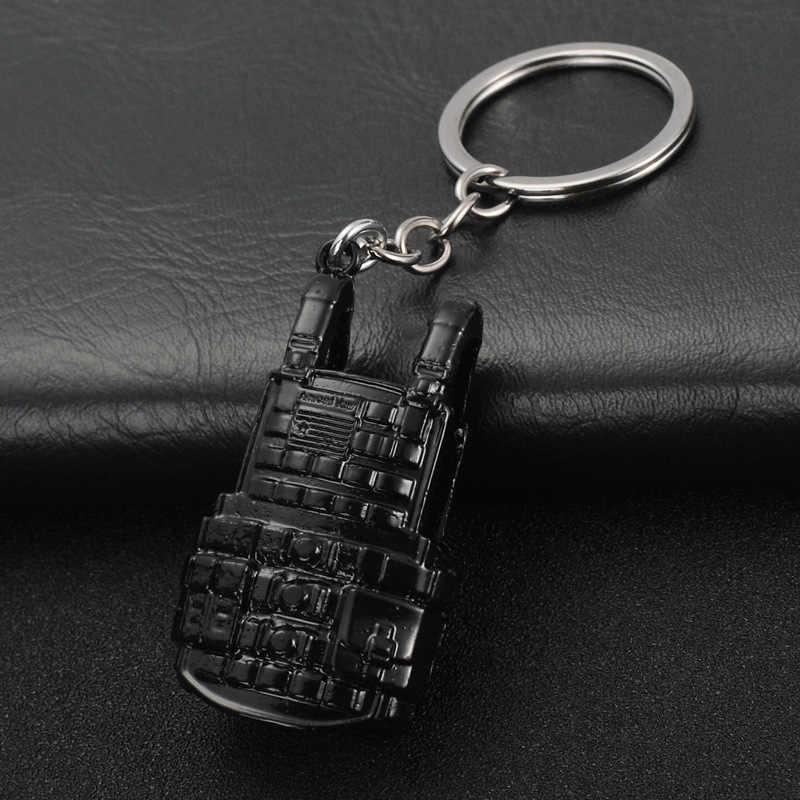 Jogo PUBG Chaveiro Capacete Armadura Pan LV 3 Mochila De Metal Chave Da Cadeia de Acessórios de Cosplay Prop