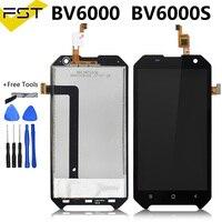 Blackview bv6000 lcd 디스플레이 + 터치 스크린 용 4.7 인치 lcd 100% 테스트 스크린 디지타이저 어셈블리 교체 bv6000s-에서휴대폰 LCD부터 전화기 & 통신 의