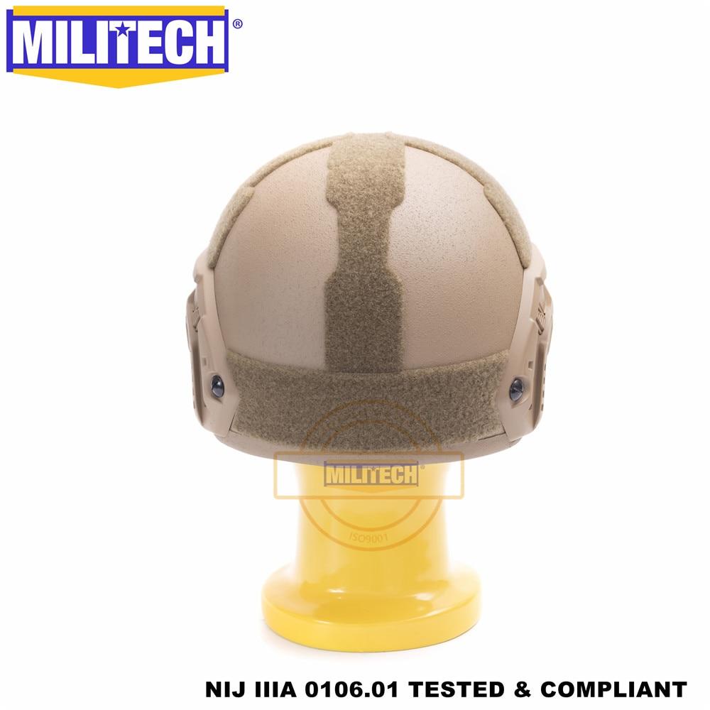 Image 5 - MILITECH Ballistic helmet FAST CB Deluxe Worm Dial NIJ level IIIA 3A High Cut ISO Certified Twaron Bulletproof Helmet DEVGRU-in Safety Helmet from Security & Protection