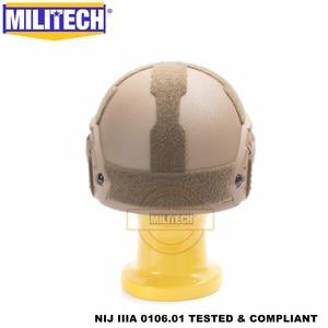 Image 5 - MILITECH Casco balístico FAST CB Deluxe, NIJ level IIIA 3A, de corte alto, certificado ISO, Twaron, a prueba de balas, DEVGRU