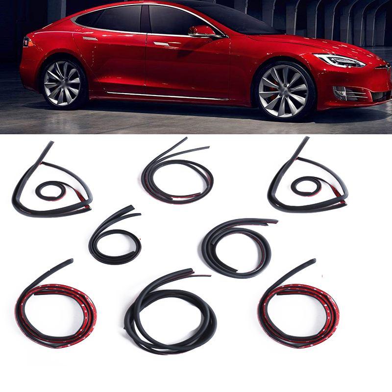 8 pièces/ensemble D Z P I Type bande de joint de porte de voiture EPDM isolation Anti-poussière insonorisation voiture joint en caoutchouc pour Tesla modèle 3/S/X