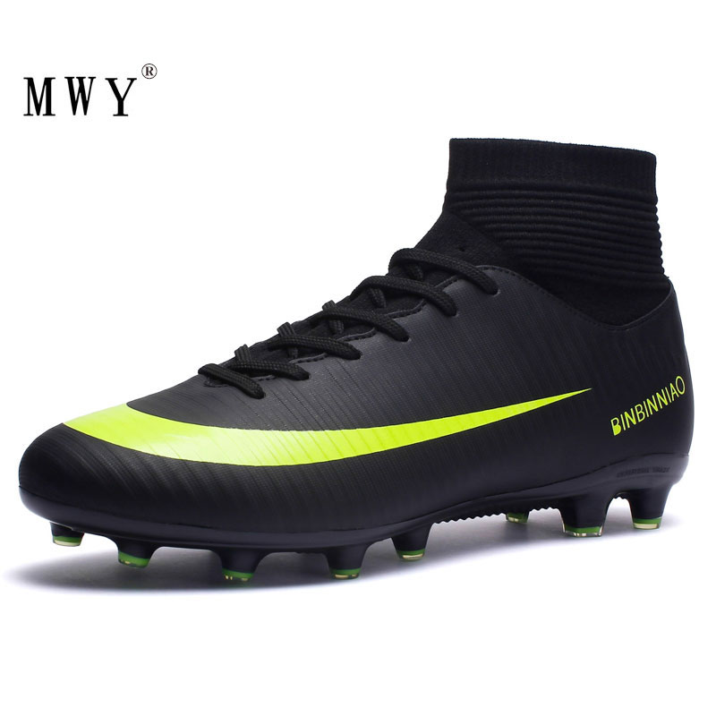 MWY Soccer-Shoes Football-Boots Kids Cleats Sneakers-Size Training Outdoor Sport High-Ankle