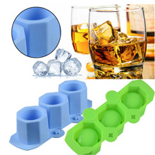 3 Hole Silicone Plaster Mould Wine Glass Silicone Ice Tray Prickly Pear Flower Pot Concrete Mould Ice Tray Mould Ice Cup Mold creative diameter 45mm silicone ice hockey single hole silicone ball ice tray ice model