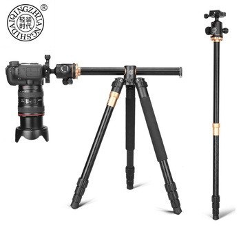 QZSD Q999H Portable Alluminium Alloy Camera Tripod Video Monopod Professional Extendable Travel Horizonal Tripod ball head цена 2017