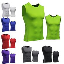 Tops Vest Tights Compression-Shirt Training Fitness Sports Sleeveless New Men Stretch