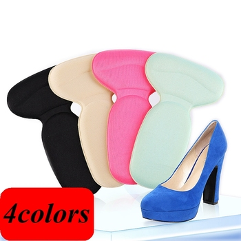1Pair T-Shape High Heel Grips Liner Arch Support Orthotic Shoes Insert Insoles Foot Heel Protector Cushion Pads for Women HT-1 1 pair high quality sponge invisible back soft heel pads for high heel shoes grip adhesive liner cushion insert pads insoles ht3