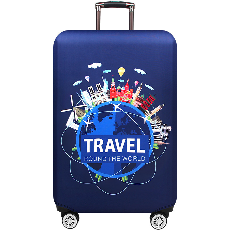 JULY'S SONG Thick Suitcase Cover Travel Cartoon Luggage Protective Cover For Trunk Case Apply To 18''-32'' Suitcase Cover Bag