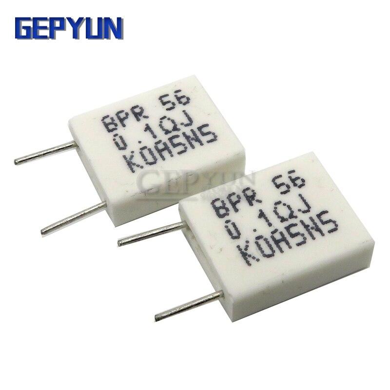 Неиндуктивный керамический цементный резистор BPR56 5 Вт 0,1 0,15 0,22 0,25 0,33 Ом, 0,5 R 0.15R 0.22R 0.25R 0.33R 0.5R Gepyun, 10 шт.