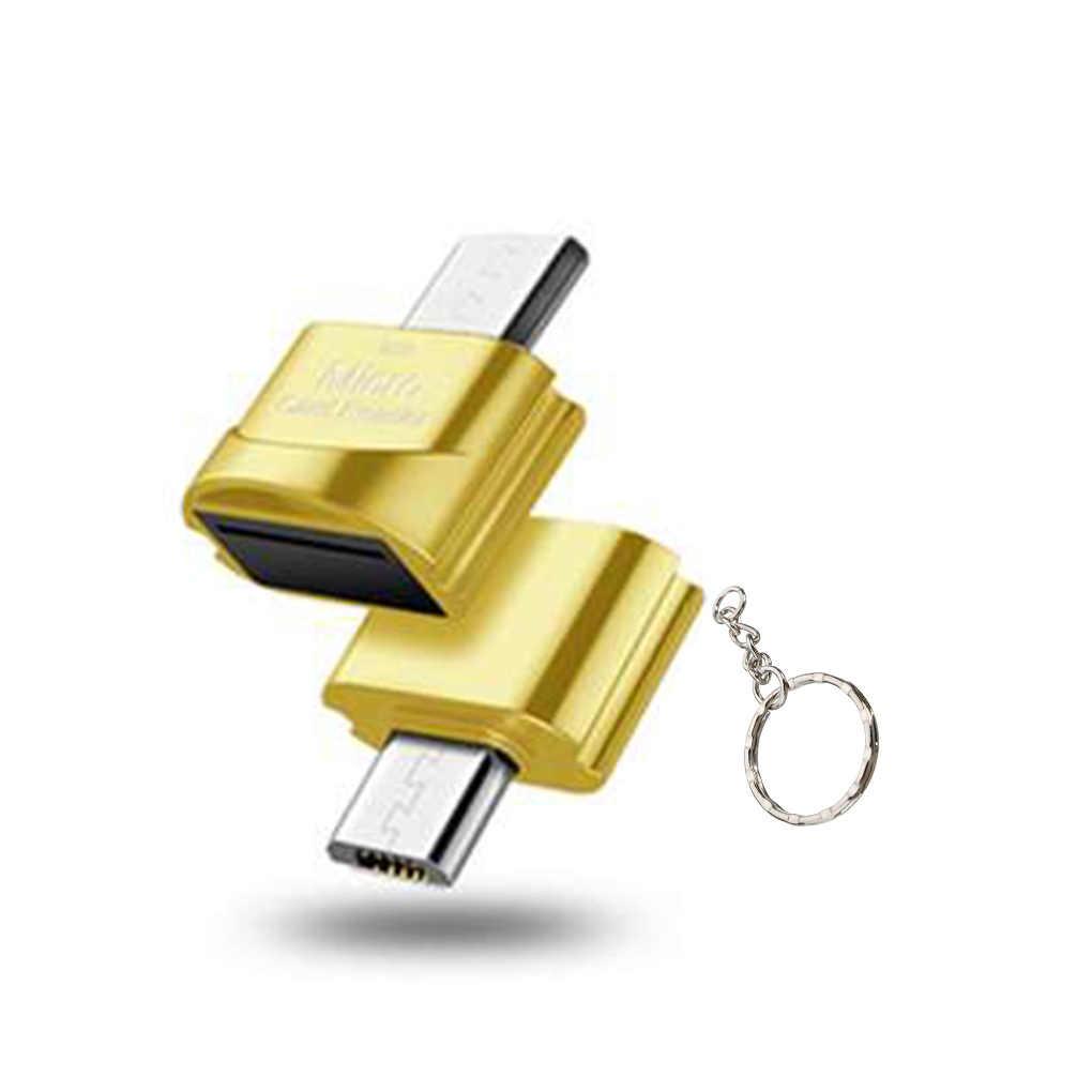 Lector de tarjetas TF OTG Micro USB de alta velocidad con puerto de memoria y lector de tarjetas USB 3,1