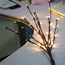 """Светодиодный светильник """"Ветка ивы"""", Рождественская ваза с цветами, 20 лампочек, для дома, вечерние, для сада, декор для рабочего стола, украшение для цветов, огни LS* D"""