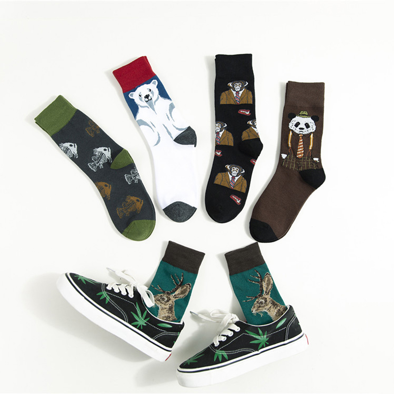 Hip Hop Long Cotton <font><b>Socks</b></font> Women Men Harajuku <font><b>Animal</b></font> <font><b>Socks</b></font> <font><b>Unisex</b></font> Funny <font><b>Socks</b></font> Streetwear Calcetines Meias Autumn Winter image