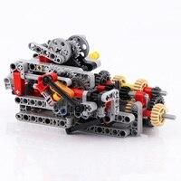 Apto para logoes técnica 8 velocidade caixa de engrenagens sequenciais (engrenagens  pinos  eixos  conectores  feixe) blocos tijolos mocs em massa peças diy brinquedos