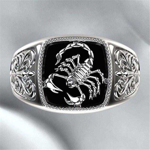 Bague scorpion argent