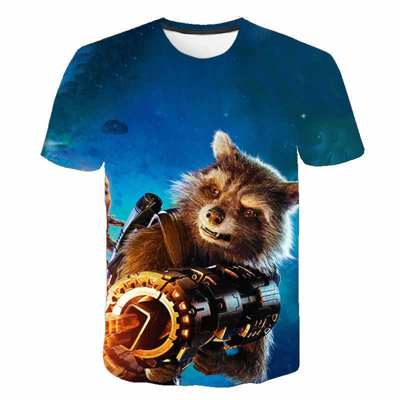 גברים 3D t חולצה Groot קריקטורה קיץ קצר שרוול חולצות tees, מצחיק מודפס 3D כיף Harajuku tshirt אסיה בתוספת-גודל חדש גברים חולצה