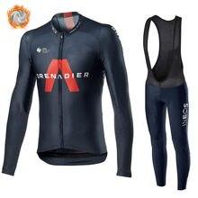 Ropa de ciclismo para hombre, Conjunto de Jersey INEOS granadier 2020, chaqueta de manga larga, uniforme de carrera de equipo profesional, traje para montar térmico de lana
