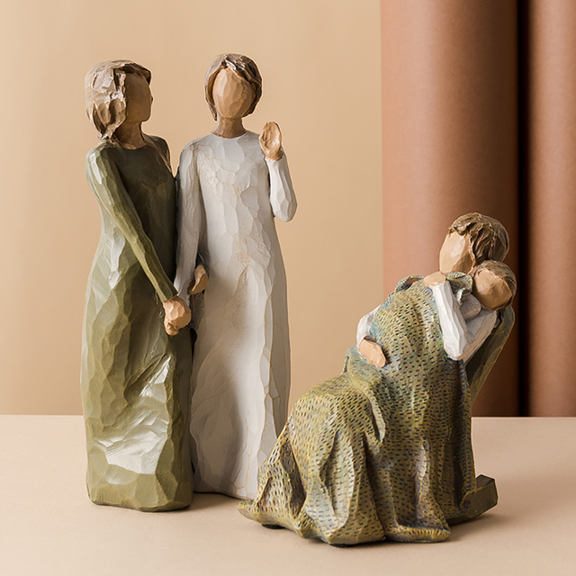 Nordic Love Family Resin Figurines Ornaments  Family Happy Time Mum Dad and Children Home Decoration Accessories For Living Room 4