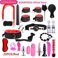 23 stücke Sex Spielzeug für Erwachsene G-spot Vibratoren Erwachsene Spiel SM Bondage Restraint Erwachsene spielzeug Nylon Handschellen Clit stimulator Sex Shop