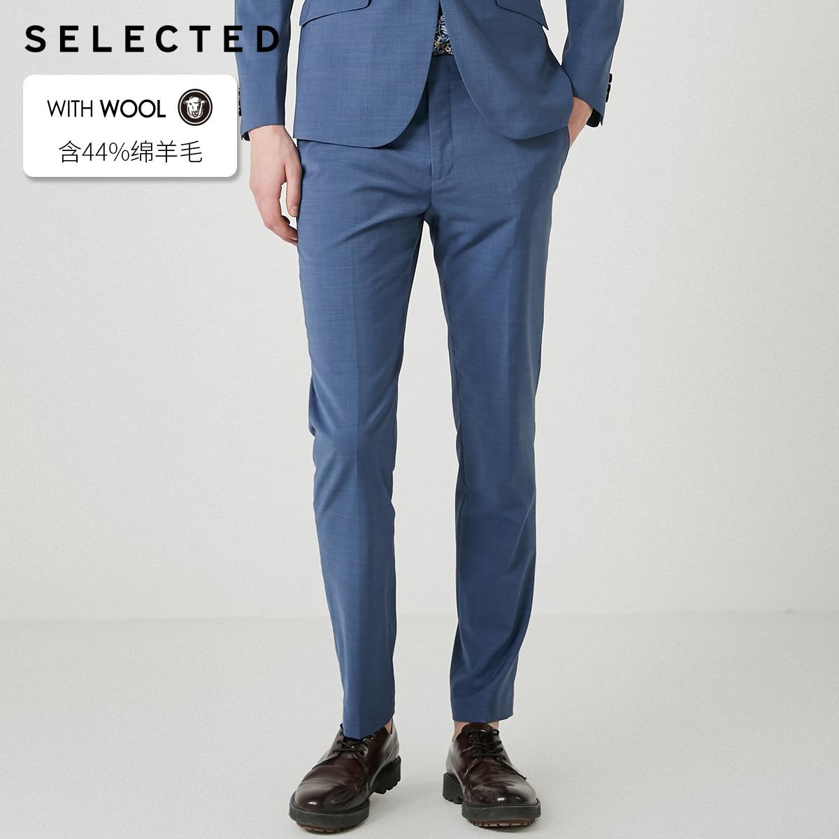 SELECTED Men's Slim Fit Woolen Suit Pants T|41926B503