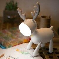 Elk Deer-Lámpara de noche rotativa LED, temporizador ajustable, USB, Multicolor, lámparas de mesita de noche, decoración del hogar de escritorio para dormitorio de niños