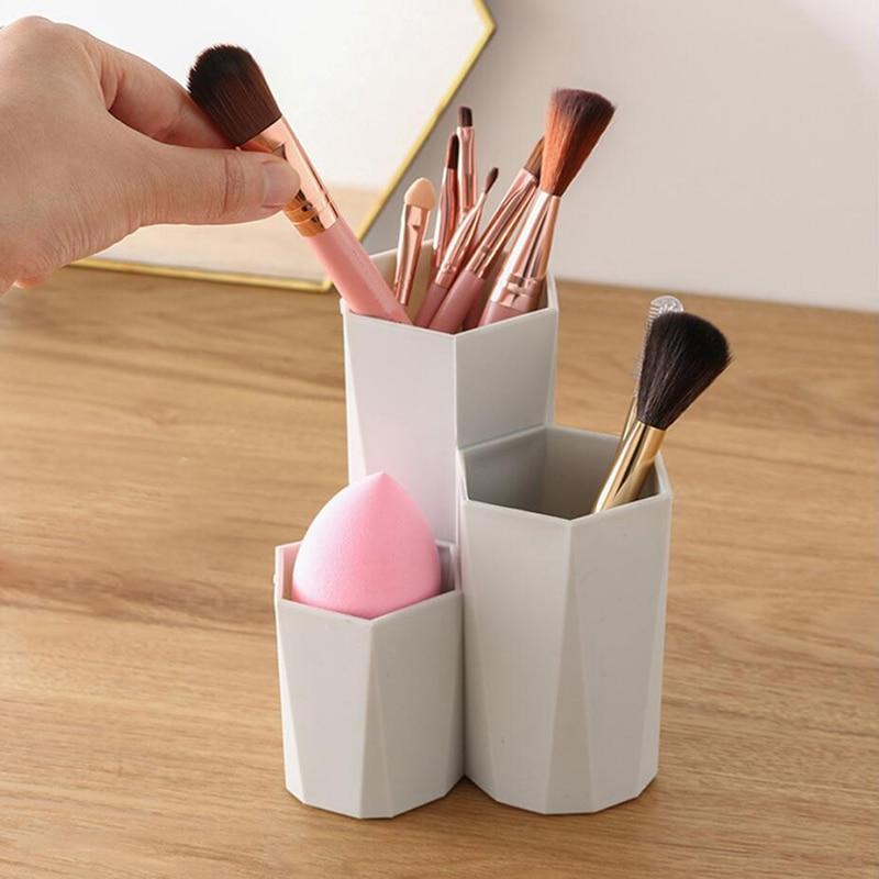 Makeup Nail Polish Organizers Pen Holder Rack Fashion Cosmetic Brush Storage Box Cosmetic Holder Make Up Tools Products