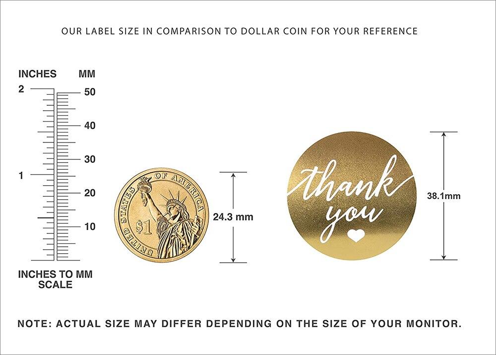 500 шт/рулон ручной работы наклейка «спасибо» этикетки для печати