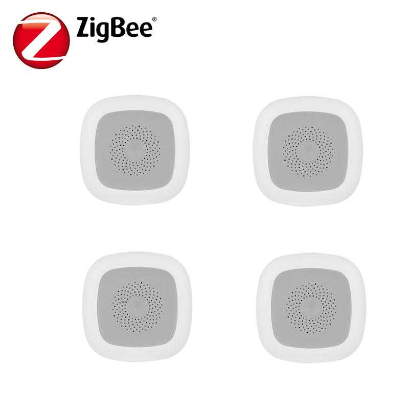 HAOZEE Wireless Zigbee Smart Temperature And Humidity Sensor Detector Battery Operated 4pcs/lot