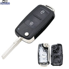 New Model Remote Key Shell 2 Buttons Flip Remote Key Replacement Shell Case for VW Amarok/Crafter/Touareg 2011(China)