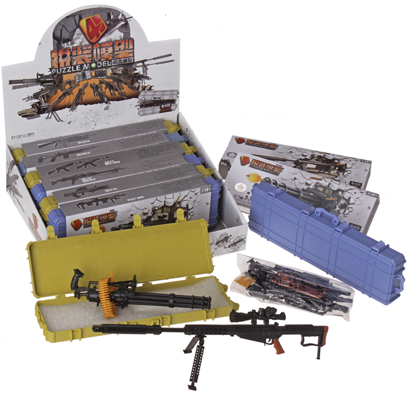 New 8pcs//Set 1//6 4D Gun Model Assembling Weapon Rifle Submachine Model Toys Gift