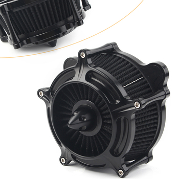 Motorcycle Turbine Air Cleaner Spike Intake Filter For Harley Softail 1993-2015 & Touring 1993-2007 & Dyna FXR (1993-2017