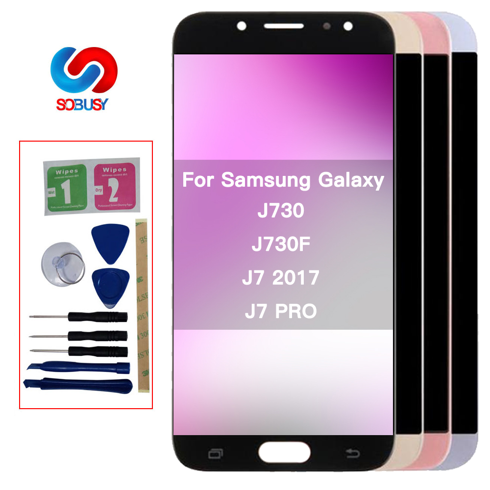 100% Test Display <font><b>J7</b></font> <font><b>Pro</b></font> For Samsung Galaxy <font><b>J7</b></font> <font><b>Pro</b></font> <font><b>J7</b></font> 2017 J730 <font><b>LCD</b></font> Display J730F Touch <font><b>Screen</b></font> <font><b>Replacement</b></font> Digitizer Assembly image